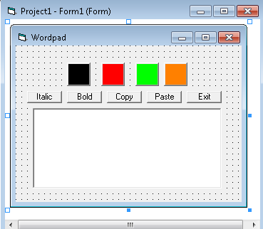 how to make a word processor in vb6